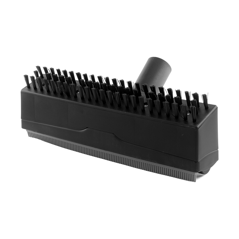 Central vacuum reversible brush and squeegee