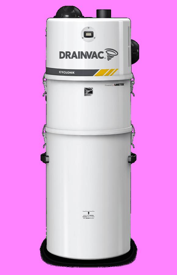 Commercial central vacuum – Cyclonik 3.46 HP with big bucket | Commercial central vacuum – Cyclonik 3.46 HP with big bucket