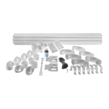 Central vacuum installation kit - 2 inlets and piping