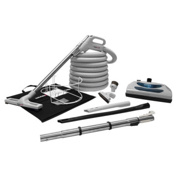 Central vacuum deluxe accessory kit with electric power head