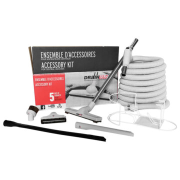 Central vacuum accessory kit