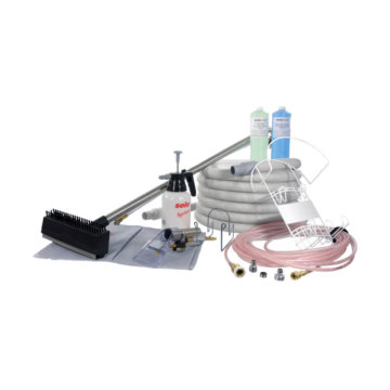 Central vacuum cleaning kit for upholstery & floor
