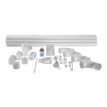 Central vacuum installation kit - 1 inlet and piping