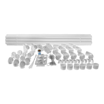 Central vacuum installation kit - 3 inlets and piping