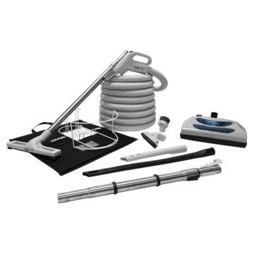Conjunto de accesorios lujo con escoba eléctrica para aspiradora central