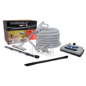 Conjunto de accesorios con escoba eléctrica para aspiradora central