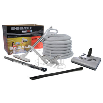 Central vacuum accessory kit with Lindhaus electric brush