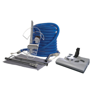 Central vacuum commercial kit with Lindhaus electric brush