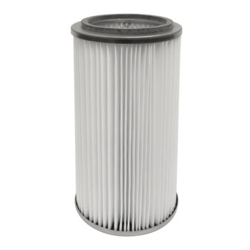 Central vacuum large cartridge filter