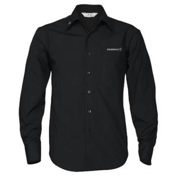 Camisa negra de manga larga - hombre