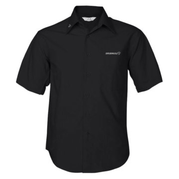 Camisa negra de manga corta - hombre