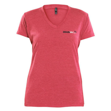 Camiseta roja cenizo - mujer