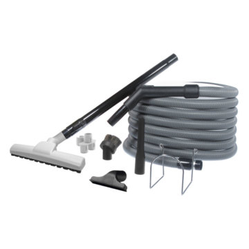Central vacuum garage accessory kit with 30' (9m) hose