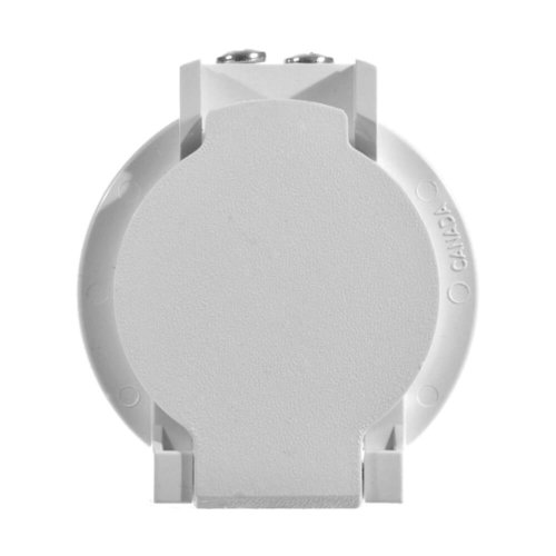 Central vacuum PVC utility inlet with contact | Central vacuum PVC utility inlet with contact