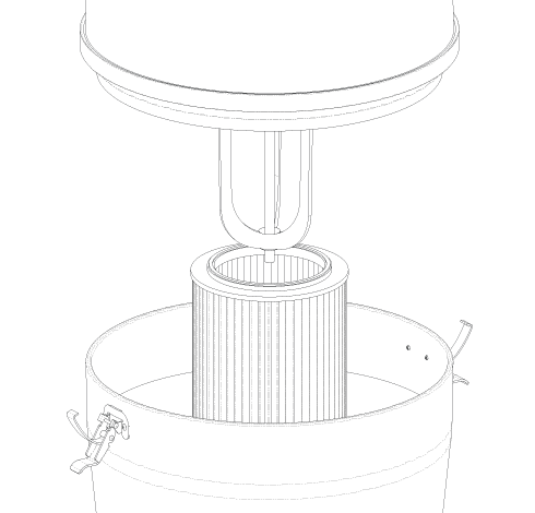 Commercial central vacuum – Cyclonik 3 HP | Commercial central vacuum – Cyclonik 3 HP
