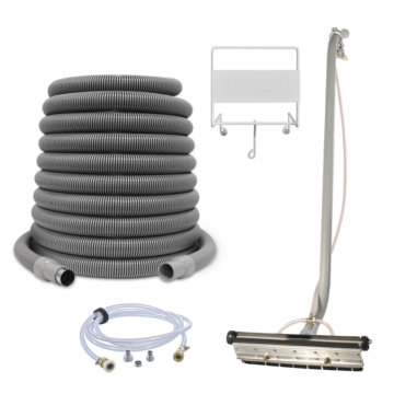 Central vacuum industrial cleaning kit