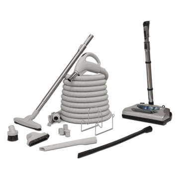 Central vacuum accessory kit - Standard with electric brush